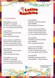 Lyrics - Latino Bambino