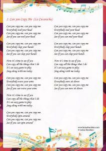 Lyrics - Can You Copy Me