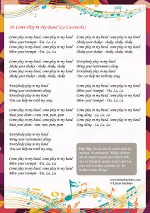 Lyrics - Come Play in My Band
